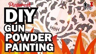 Download Youtube: DIY Gun Powder Painting - Man Vs Pin #98