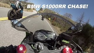 10. 2013 Kawasaki Ninja 636 ZX6R chasing the BMW S1000RR, UNCUT! GoPro