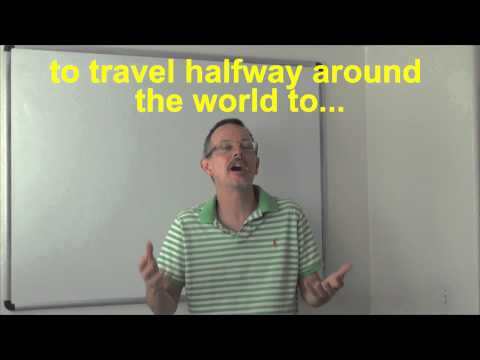 Learn English: Daily Easy English Expression 0528: (RE-DONE!!) travel halfway around the world to…