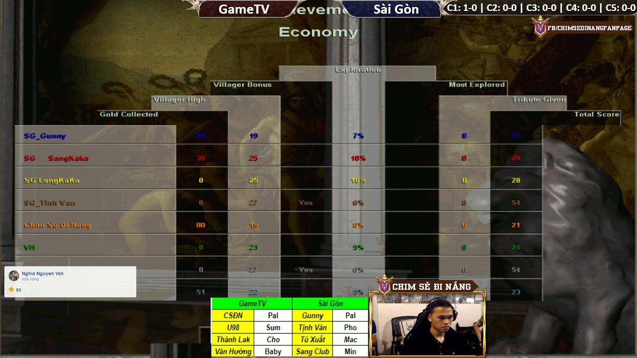 AOE | 4vs4 Random | GameTV vs Sài Gòn | Ngày 16-11-2018 | BLV:G_Kami