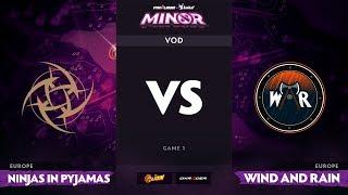 [RU] Ninjas in Pyjamas vs Wind and Rain, Game 1, StarLadder ImbaTV Minor S2 EU Qualifiers