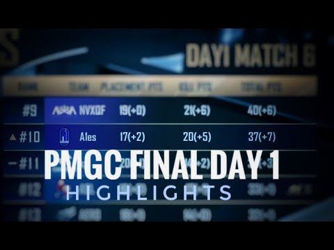 PMGC FINAL DAY 1 HIGHLIGHTS | A1ESPORTS | #PMGC #WE_ONTOP