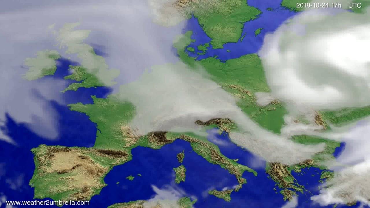Cloud forecast Europe 2018-10-22
