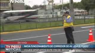 Hoy comenzó a operar el corredor Javier Prado - La Marina - Faucett