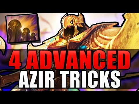 4 ADVANCED AZIR TRICKS - Azirsec Techniques - League of Legends (видео)