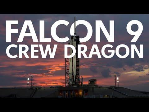 Прямая трансляция пилотируемого запуска SpaceX Crew Dragon