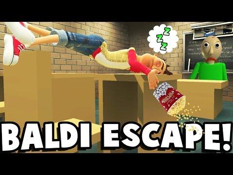 Garrys Mod - ESCAPE FROM BALDI'S SCHOOL? - Garry's Mod Gameplay (Gmod Roleplay) - Baldi's School Survival