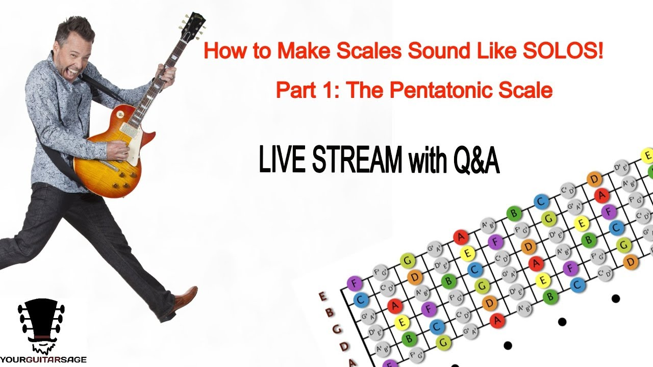 How To Make Scales Sound Like Solos –  Part 1: Introduction To the Pentatonic Scale