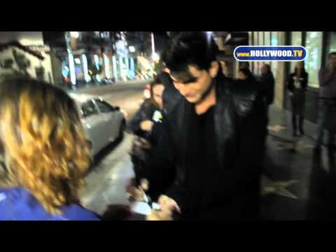 hollywoodtv - Lauren Conrad & Adam Lambert are seen leaving Katsuya Restaurant Follow Hollywood.TV on Facebook @ http://facebook.com/HollywoodAsItHappens.