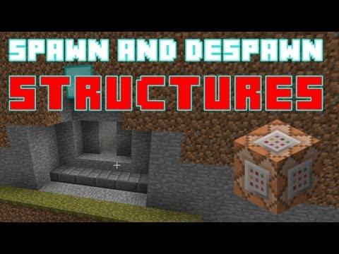 Spawn and Despawn Structures using Command Blocks – Minecraft Tips and Tricks