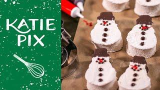 Cinnamon Marshmallow Snowmen with Dipped Dark Chocolate Hats   Katie Pix by Katie Pix