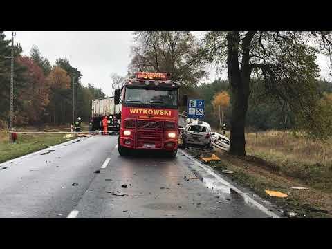 Wideo1: Wypadek między Szlichtyngową a Wilkowem