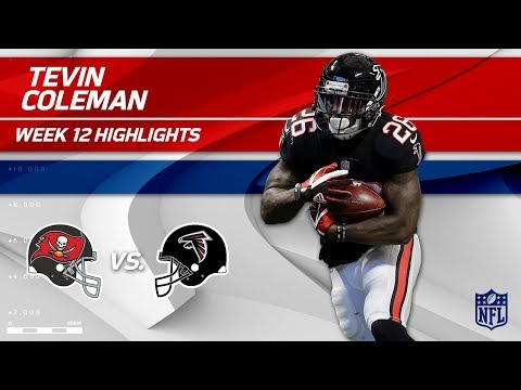 Video: Tevin Coleman's 2 TD Game vs. Tampa Bay! | Buccaneers vs. Falcons | NFL Wk 12 Highlights