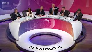 """A Question Time audience member accuses papers """"like the Daily Mail"""" of spreading lies, disgruntled Mail columnist Peter Oborne jumps to its defence describing it as """"extremely accurate and fair"""" and everyone dies of laughter.© BBC MMXVIIAired: 22 Jun 2017This channel: http://anarchi.st"""