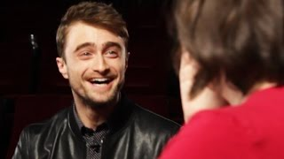 Daniel Radcliffe Surprises Fans At A Movie Theater - YouTube