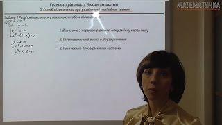 Розв'язуємо нелінійні системи рівнянь з двома змінними способом підстановки.Повну версію уроку дивіться на нашому сайті: https://www.matematichka.com.ua