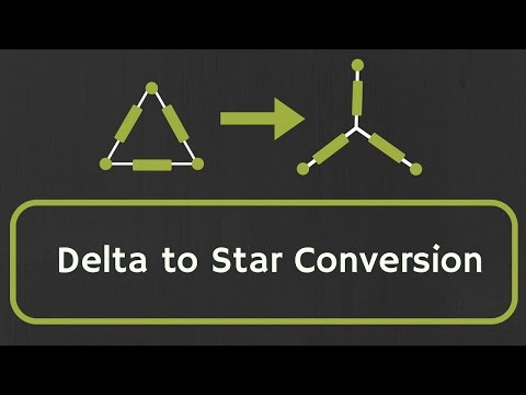 Delta to Star Conversion (with proof and example)