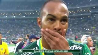 Jogadores do Palmeiras falam após vitória e conquista do campeonato brasileiro 2016