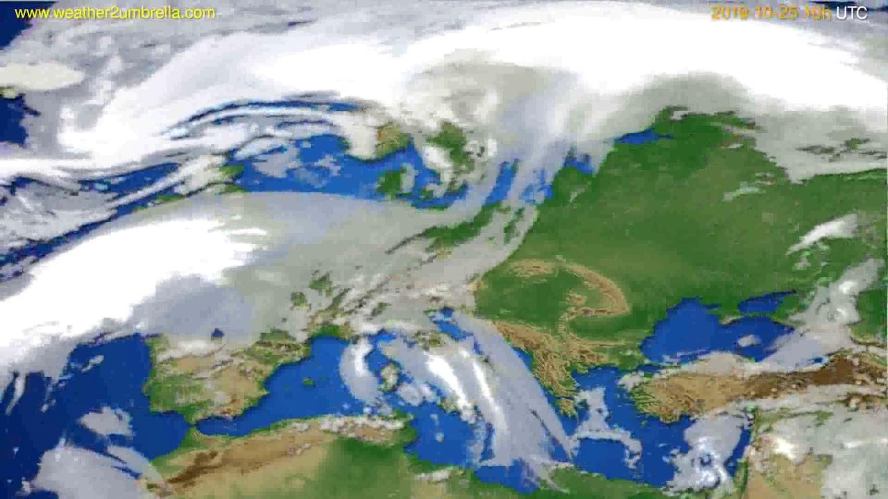 Cloud forecast Europe // modelrun: 00h UTC 2019-10-23