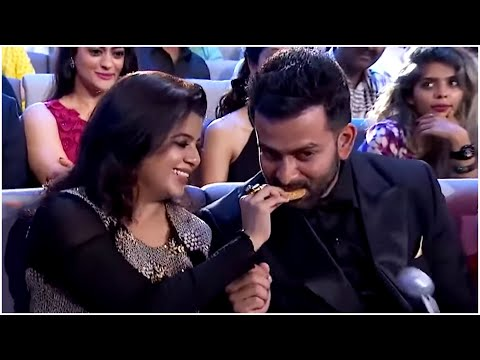 Prithviraj Sukumaran & His Wife Supriya Menon's Cute Moments At South Awards Show