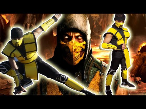 Home made MK Scorpion Mortal Kombat Costume in 1 Day