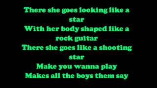 Taio Cruz - There she goes Lyrics [HD/HQ]