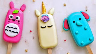 How to Make Colorful Cake Popsicle For Summer | Yummy Cake Decorating Tutorials by Nyam Nyam