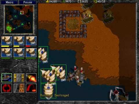 Warcraft 2: Tides of Darkness - Human Campaign Gameplay - Mission 12