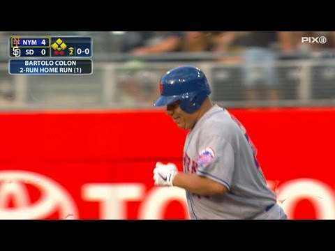 Colon launches a blast for first career homer