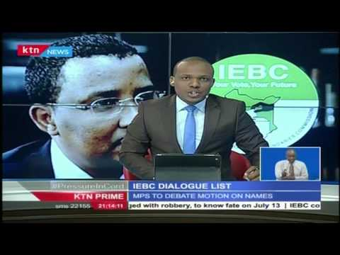 Parliament agree to form a 14 member team to address the IEBC Debacle