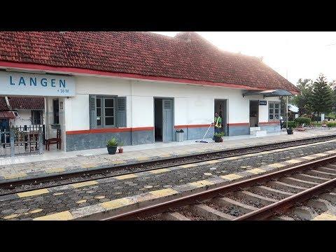Stasiun Langen -- Yang Dulunya Ramai, Kini Terlihat Sepi Namun Masih Terawat Dengan Baik