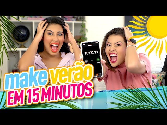 DESAFIO MAKE de VERÃO em 15 MINUTOS   feat. ThaynaraOG - Joyce Kitamura