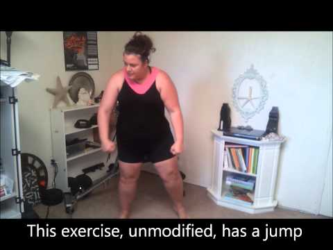 Plus Size Insanity Workout Modify Day 1 weightloss