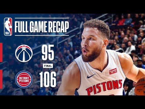 Video: FULL GAME RECAP: WIZARDS VS PISTONS | BLAKE GRIFFIN STUFFS THE STAT SHEET