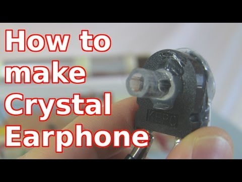 earphone - How to make a homemade crystal radio earphone (earpiece) for a crystal radio, starting from a microwave oven piezoelectric crystal speaker. This goes step-by...