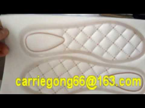How to make the shoes insole pad--High Frequency embossing machine