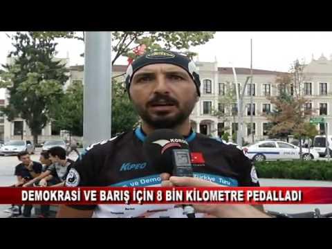 Demokrasi ve barış için 8 bin kilometre pedalladı