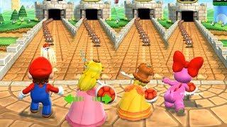 Mario Party 9 Step It Up - Mario vs Peach vs Daisy vs Birdo Master Difficulty| Cartoons Mee