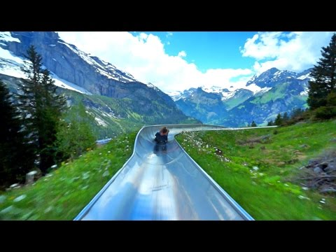 Switzerland Mountain Coaster (видео)