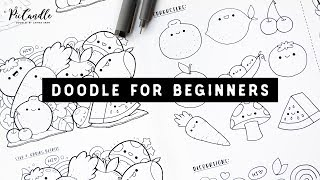 Doodle for Beginners Ep2 | Kawaii Fruits & Vegetables | Draw with Me Step-by-Step