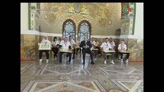 قصر الشعب / صورة تذكارية لرئيس الجمهورية مع الرياضيين المتوجين