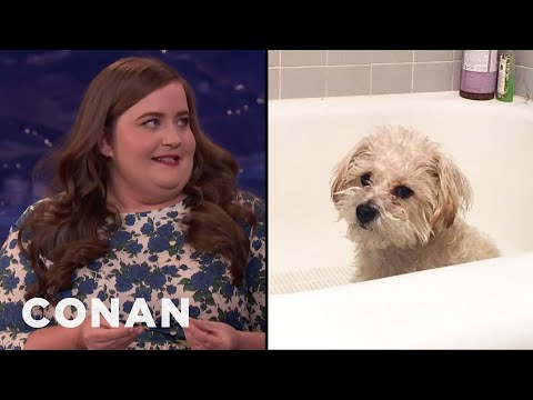 """Aidy Bryant On Her Dog's """"Ass Distress""""  - CONAN on TBS"""