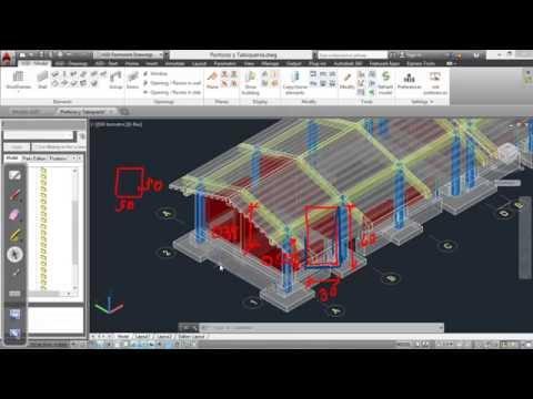Demostración de Metrados en AutoCAD Structural Detailing
