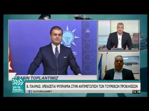 Ο Β. Πάλμας, Υφ. παρά τω Προέδρω της Κυπριακής Δημοκρατίας στον Σ. Χαριτάτο | 13/05/2019 | ΕΡΤ