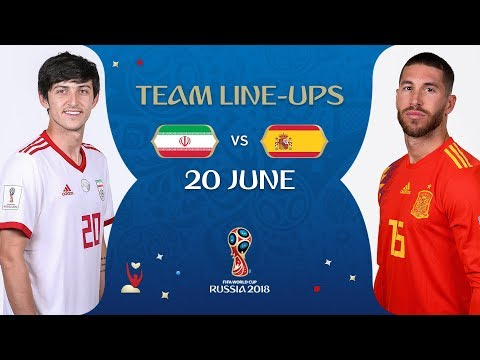LINEUPS – IR IRAN V SPAIN - MATCH 20 @ 2018 FIFA World Cup™ (видео)