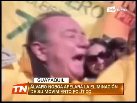 Álvaro Noboa apelará la eliminación de su movimiento político