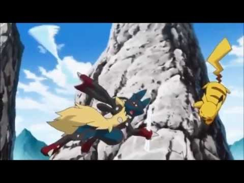Ash vs Korrina (Mega Lucario vs Pikachu) (видео)