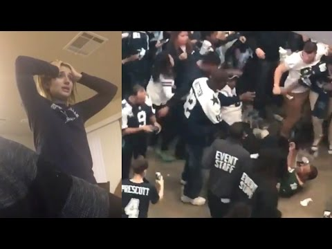 Cowboys Fans FIGHT Packers Fan, Break TVs and Cry After Playoff Loss to Green Bay (видео)