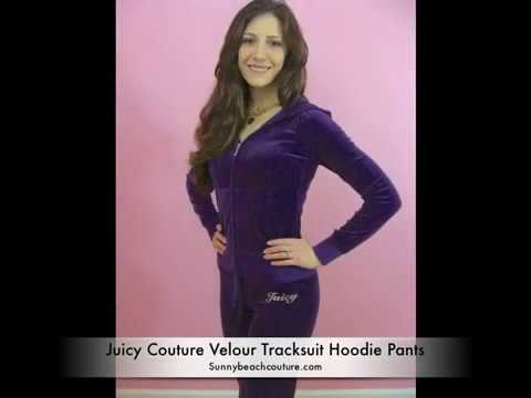 Juicy Couture Mirrored Crown Velour Hoodie Tracksuit and Pants