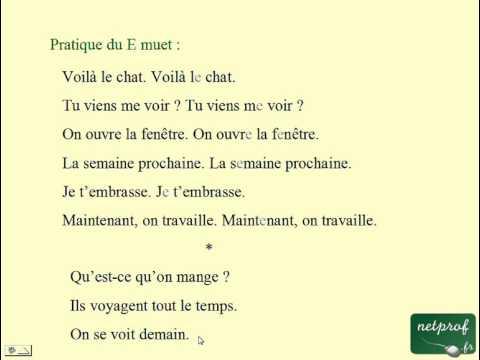 Français pour étrangers : Prononciation 1